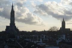 Delt-Vergezicht-met-Nieuwe-en-Oude-Kerk