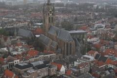 Delft-Uitzicht-vanaf-Nieuwe-Kerk-op-Oude-Kerk