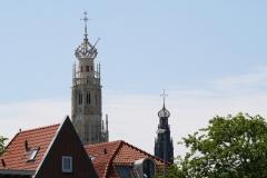 Haarlem-Vergezicht-met-Bakenesserkerk-en-St-Bavo